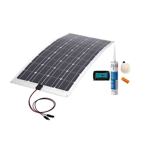 KIT PANEL SOLAR VECHLINE MONOCRISTAINO FLEXIBLE 100W